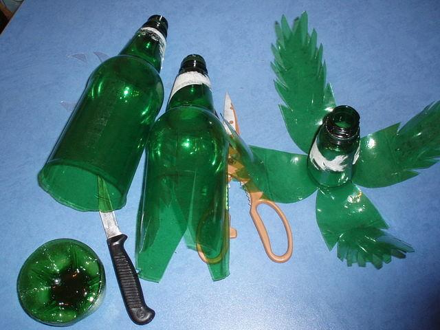 Как сделать пальму из бутылок своими руками
