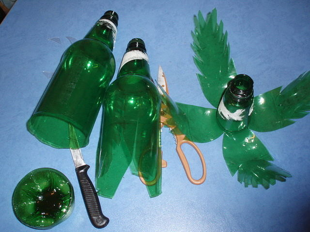 Поделка из бутылки пошагово