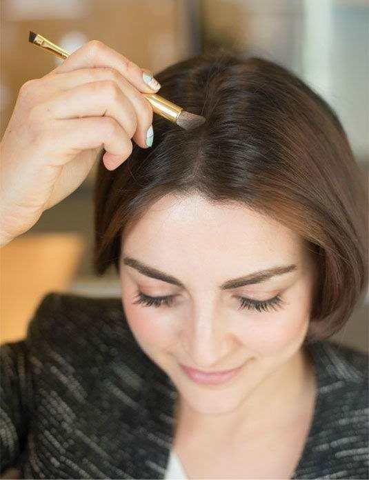 Как сделать пробор волос гуще 104