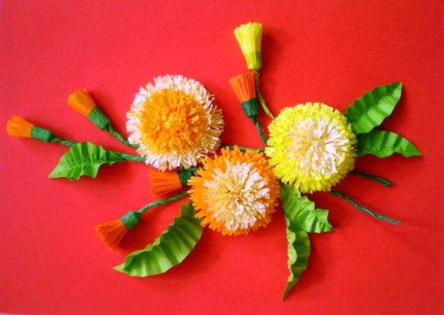 Как сделать цветы в технике