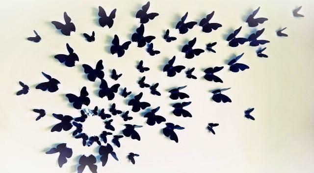 3d бабочки на стену своими руками 387