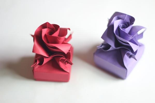 Оригами цветы из бумаги.