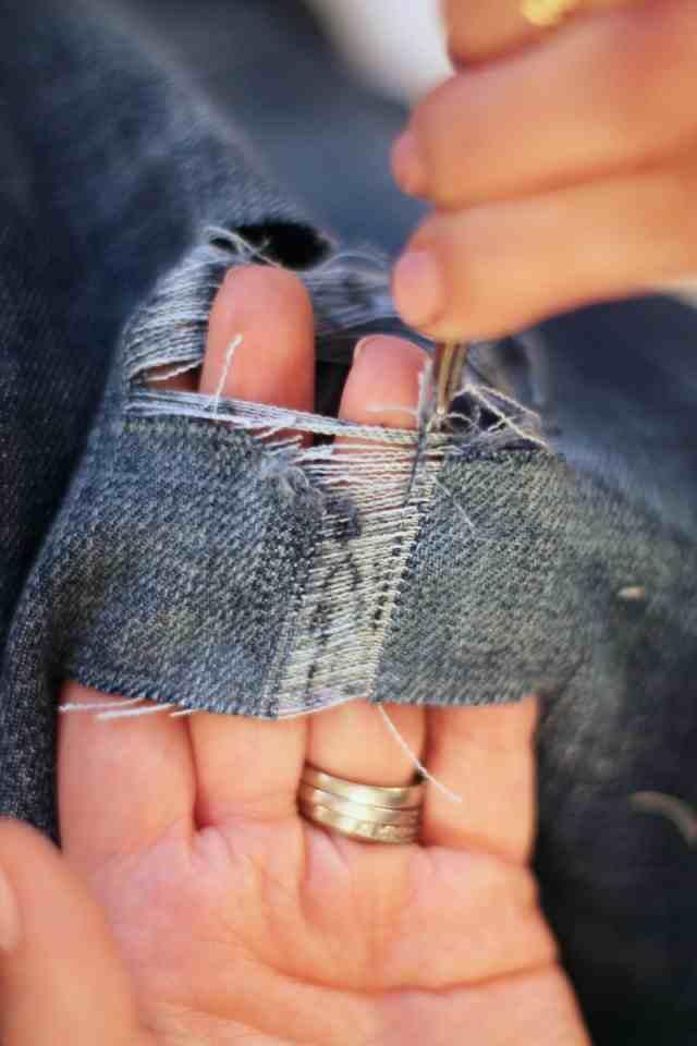Мятые джинсы своими руками 29