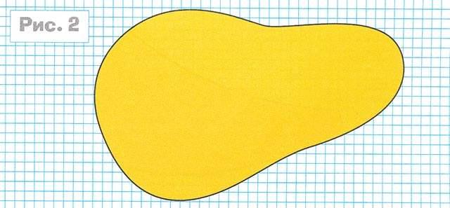 Объёмная груша из бумаги