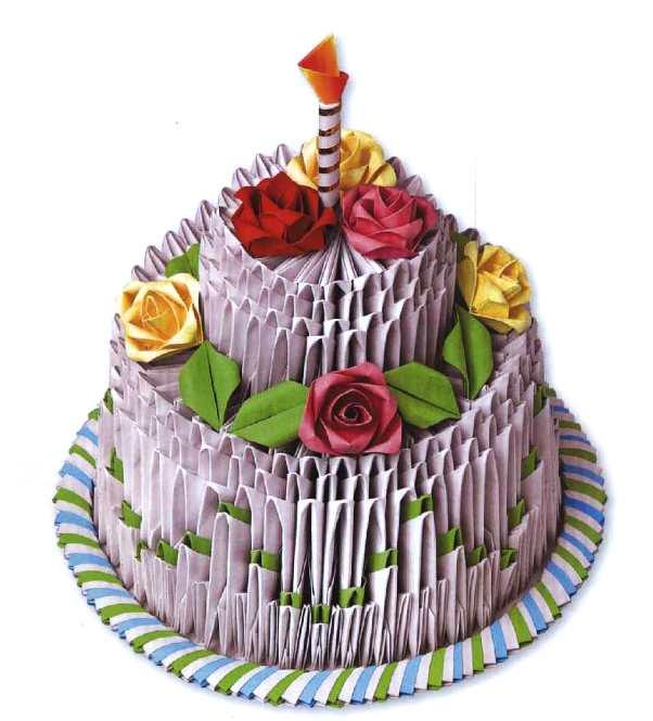 Как сделать из модулей торт
