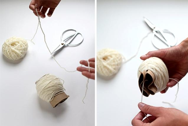 Как сделать пушистика из ниток своими руками