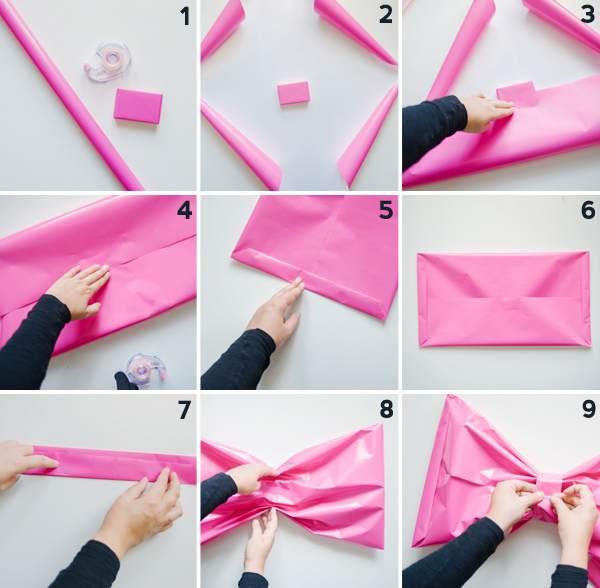 Как сделать бант из оберточной бумаги своими руками