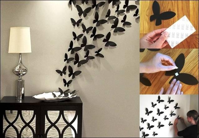 Как украсить стену дома своими руками на улице