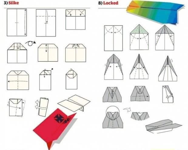 Самолет из бумаги (оригами)