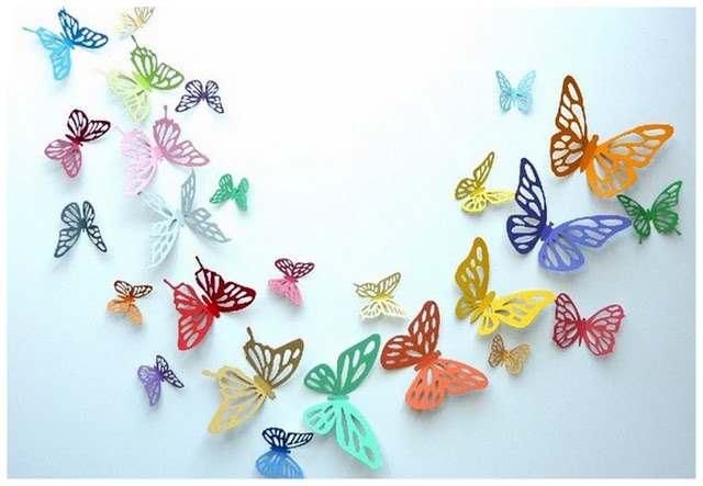 Бабочки для украшения стен своими руками