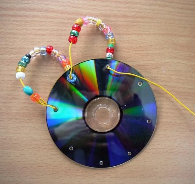 Как сделать из диска для украшений 154