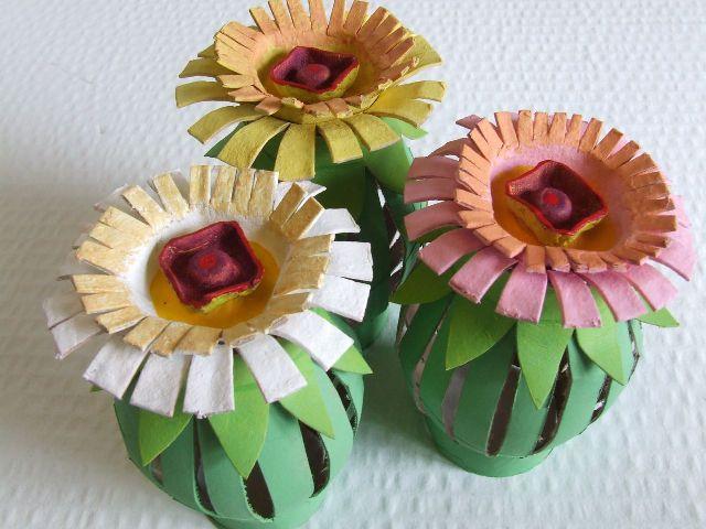 Цветы из картона своими руками