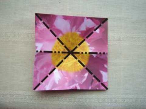 бумажный цветок оригами с